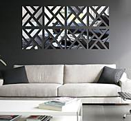 Недорогие -Отдых Наклейки Зеркальные стикеры Декоративные наклейки на стены,PVC материал Съемная Украшение дома Наклейка на стену