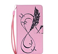 EFORCASE® Pink 8 Painted Lanyard PU Phone Case for Huawei P8lite