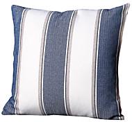 preiswerte -45 * 45 cm grob leinen streifen blauen kissenbezug hauptlieferung dekoration