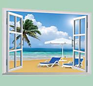 Недорогие -Пейзаж Наклейки Простые наклейки Декоративные наклейки на стены, ПВХ Украшение дома Наклейка на стену Стена