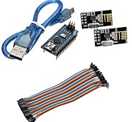 mini nano v3.0 ATmega328P Mikrocontroller-Board w / USB-Kabel + nRF24L01, 2,4-GHz-Wireless-Transceiver-Kit für Arduino
