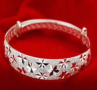 cheap -Women's Bangles - Sterling Silver Fashion Bracelet Silver For Christmas Gifts