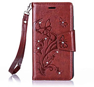 cheap -Butterfly Flower Diamond Flip Leather Cases Cover For Wiko Lenny3/Lenny2 Prime Strap Wallet Phone Bags