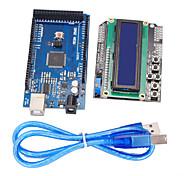Недорогие -улучшенная версия доски развития mega2560 + 1602 ЖК-клавиатура щит для Arduino