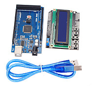 Improved Version Mega2560 Development Board + 1602 LCD Keypad Shield for Arduino