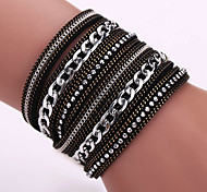 Fashion Korea Flannelette Diamond Bracelet Alloy Chain Bracelet Magnetic Clasp #YMG1087 Christmas Gifts