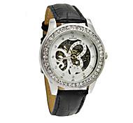 Недорогие -WINNER Женские Механические часы Механические, с ручным заводом Группа Блестящие Черный