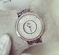 Mulheres Relógio de Moda Relógio Casual Relógios Femininos com Cristais Quartzo Quartzo Japonês Relógio Casual Noctilucente Aço Inoxidável