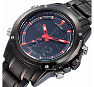 NAVIFORCE® Luxury Brand Men Fashion Analog Digital Double Time Black Full Steel Quartz Sport Watch Fashion Wrist Watch Cool Watch