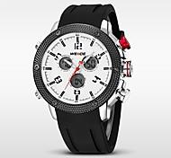 WEIDE Муж. Спортивные часы Кварцевый Японский кварц LED Календарь Защита от влаги С двумя часовыми поясами тревога Хронометр силиконовый
