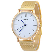 cheap -Men's Wrist Watch Chinese Casual Watch Stainless Steel Band Luxury / Minimalist Silver / Gold