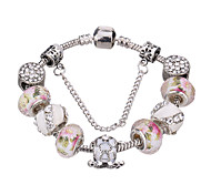 cheap -Women's Charm Bracelet Bangles Strand Bracelet Crystal Fashion Durable European Beaded Crystal Acrylic Rhinestone Silver Plated Geometric