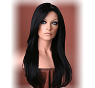cheap -Beautiful long black straight hair wig Women's synthetic wigs Free shipping
