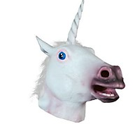 cheap -New 2016 Unicorn Horse Head Mask Halloween Costume Party Gift Prop Novelty Masks Latex Rubber Creepy