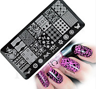 1pcs  New Nail Art Stamping Plates Colorful Image Templates Tools Nail Beauty XY-J15