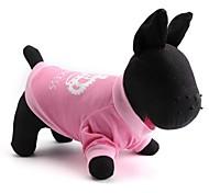 cheap -Cat Dog Shirt / T-Shirt Dog Clothes Tiaras & Crowns Pink Cotton Costume For Pets Men's Women's Fashion