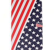 Para Samsung Galaxy Capinhas Porta-Cartão / Carteira / Com Suporte / Flip / Estampada Capinha Corpo Inteiro Capinha Bandeira MaciaCouro