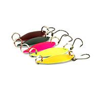 """5 Stück Angelköder Löffel Mehrfarbig g/Unze,30 mm/1-1/4"""" Zoll,MetalSeefischerei Spinn Spring Fischen Fischen im Süßwasser Barschangeln"""