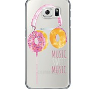 Donuts Earphone Pattern Soft Ultra-thin TPU Back Cover For Samsung GalaxyS7 edge/S7/S6 edge/S6 edge plus/S6/S5/S4