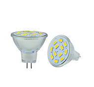 cheap -2.5W 250-300 lm GU4(MR11) LED Bi-pin Lights MR11 12 leds SMD 5730 Decorative Warm White Cold White DC 12V