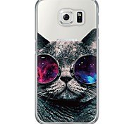 cheap -Case For Samsung Galaxy Samsung Galaxy S7 Edge Ultra-thin Translucent Back Cover Cat Soft TPU for S7 edge S7 S6 edge plus S6 edge S6 S5 S4