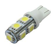 6 pezzi bianco t10 9-SMD 5050 licenza lampadina targa W5W 2825 194 192 168 12v