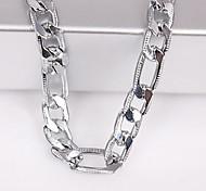 ювелирные изделия ожерелья серебряной цепи 6mm серебряные для вскользь шикарного типа