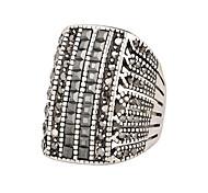 Недорогие -Муж. Серебрянное покрытие Сплав Кольцо - Мода Черный Кольцо Назначение Для вечеринок Повседневные