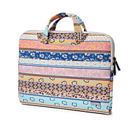 "cheap -Handbag for Macbook 12"" Macbook Air 11""/13"" MacBook Pro 13""/15"" Bohemian Style Textile Material Pink Retro Bohemian Canvas Fabric Laptop Handbag"
