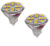 abordables -2W GU4(MR11) Luces LED de Doble Pin MR11 12 leds SMD 5050 Decorativa Blanco Cálido Blanco Fresco 150-200lm 3000-3500/6000-6500K DC 12V