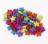 abordables -beadia surtido de perlas de colores acrílicos forma de estrella de 11 mm de plástico sueltos los granos del espaciador (50 g / aprox