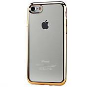 Недорогие -Кейс для Назначение Apple iPhone X iPhone 8 Кейс для iPhone 5 iPhone 6 iPhone 6 Plus iPhone 7 Покрытие Прозрачный Кейс на заднюю панель