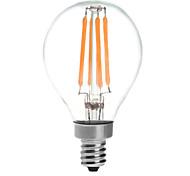 E14 Круглые LED лампы G45 4 светодиоды COB 380lm Тёплый белый 2700K Водонепроницаемый AC 220-240