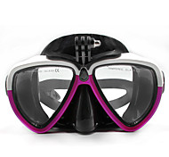 TELESIN Silicone Diving Glass With Detachable Screw Mount Diving Mask Scuba Snorkel Swimming Goggles For GoPro Hero 2 3 3+ 4,4 Session,5 Session,5