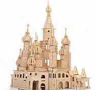 Недорогие -3D пазлы Пазлы Деревянные пазлы Модель дерева Игрушки Замок Знаменитое здание Архитектура 3D моделирование Дерево Куски