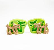 Décoration de gâteau moule moule de dragon chinois moule en silicone pour chocolat argile de polymère outils de Sugarcraft couleur aléatoire