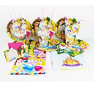 украшения день рождения украшения детских evnent партийные поставки партия принцессы 92pcs дисней 12 человек используют