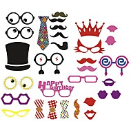 cheap -31 Pcs Party Photo Booth Props Holiday Decorations Party MasksCool For Birthday Party