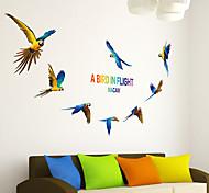 Недорогие -Животные Наклейки Простые наклейки Декоративные наклейки на стены,PVC материал Положение регулируется Украшение дома Наклейка на стену