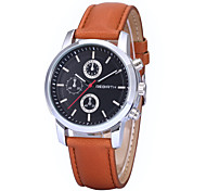 REBIRTH® Men's Women's Unisex Simple Dress Design PU Leather Strap Quartz Wrist Watch Casual Watch Fashion Watch