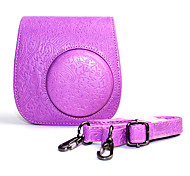 PU Leather Case with Detachable Shoulder Strap and for Fujifilm Instax Mini 8/ 8+ Instant Camera