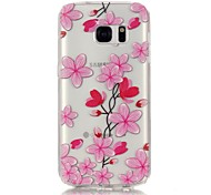 Rose Petals 3D Relief Feeling Super Soft Pack Transparent TPU Phone Case for Samsung Galaxy S6/S6 Edge/S7/S7 Edge
