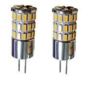 G4 Двухштырьковые LED лампы T 48 SMD 3014 300-450 lm Тёплый белый Холодный белый Естественный белый 3000-6000 К Декоративная DC 12 V