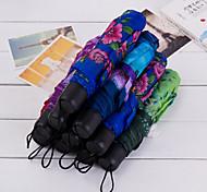 cheap -1 Textile Silicone Metal All Sun umbrella Sunny and Rainy Rainy Folding Umbrella