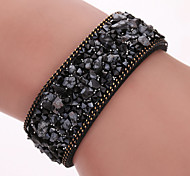 South Korea Plush Microfiber Fine Bracelet, Natural Crystal Bracelet