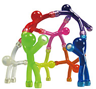 cheap -Magnet Toy Mini Q-Man Magnet / Cute Rubber Magnet Men 10pcs Silicone Magnetic Kid's Gift