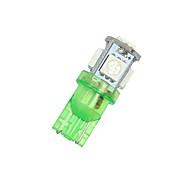 20 PCS Vivid GREEN Wedge T10 5-SMD 5050 LED Light bulbs W5W 192 168 194 2825 12V