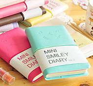 Lovely Smiling Face Leather Holster Notepad Diary Notebook