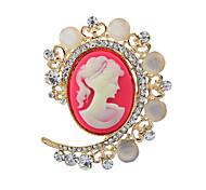 broches de plata antiguo partido de la vendimia broche pines joyas de la reina diamantes de imitación de cristal de la perla de imitación