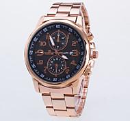 baratos -Homens Quartzo Relógio Elegante / Relógio Casual Rosa Folheado a Ouro Lega Banda Casual Ouro Rose